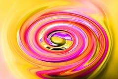 Färgrik snurrspiral med dynamisk rörelse royaltyfri bild
