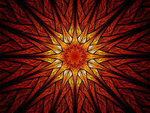 Färgrik solmålat glass vektor illustrationer