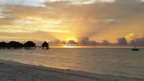 färgrik solnedgång Arkivfoton