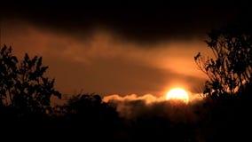 Färgrik solnedgång i naturen stock video