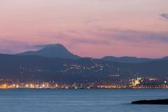Färgrik solnedgång på den Mallorca ön royaltyfri foto
