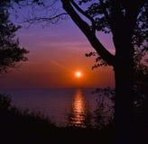 färgrik soluppgång Fotografering för Bildbyråer
