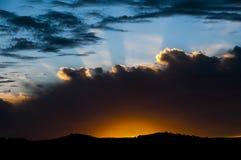 Färgrik soluppgång - kartbokberg - Marocko Royaltyfria Foton