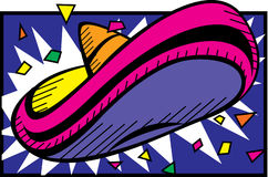 färgrik sombrero Fotografering för Bildbyråer