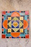 Färgrik spanjortegelplatta Fotografering för Bildbyråer