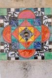 Färgrik spanjortegelplatta II Fotografering för Bildbyråer