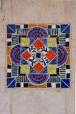 Färgrik spanjortegelplatta VI Fotografering för Bildbyråer