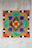 Färgrik spanjortegelplatta VII Arkivfoto