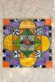 Färgrik spanjortegelplattadropp Fotografering för Bildbyråer