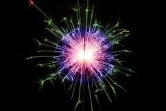 färgrik sparkler Royaltyfria Foton