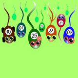 Färgrik sperma konkurrerar royaltyfri illustrationer