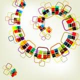 färgrik spiral för abstrakt bakgrund vektor illustrationer