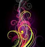 färgrik spiral för bakgrund Fotografering för Bildbyråer