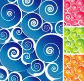 färgrik spiral för bakgrund Arkivbild
