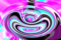 Färgrik spiral med dynamisk rörelse royaltyfri fotografi
