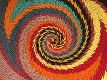 Färgrik spiral modell fotografering för bildbyråer