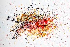 Färgrik splatter royaltyfri bild