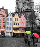 färgrik stad Arkivfoton