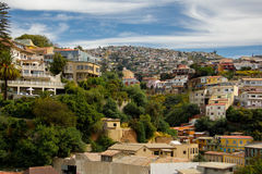 Färgrik stad i Sydamerika Royaltyfria Foton