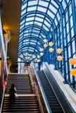 Färgrik stationsutgång arkivfoto