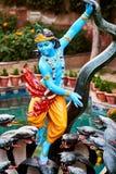 Färgrik staty av Krishna royaltyfri bild