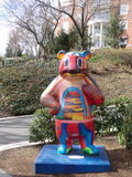 Färgrik staty för pandabjörn Fotografering för Bildbyråer