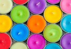 färgrik stearinljuscirkel Fotografering för Bildbyråer