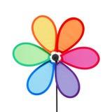 färgrik stifthjulwindmill Royaltyfri Foto