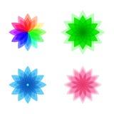 Färgrik stiliserad blommauppsättning Fotografering för Bildbyråer