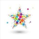 färgrik stjärna Royaltyfri Illustrationer