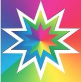 färgrik stjärna för bakgrund Royaltyfri Fotografi