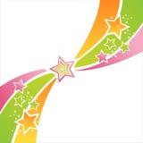 Färgrik stjärnabakgrund stock illustrationer
