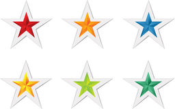 Färgrik stjärnavektor Fotografering för Bildbyråer