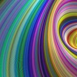 Färgrik storm - bakgrund för abstrakt konst Arkivfoto