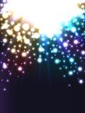 Färgrik strålljusboll Arkivfoto