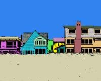 färgrik strand Royaltyfria Foton