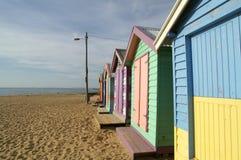 Färgrik stuga, Brighton strand, Melbourne Royaltyfria Foton