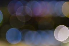 Färgrik suddig bakgrundsbokeh Royaltyfria Bilder