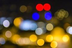 Färgrik suddig bakgrundsbokeh Fotografering för Bildbyråer