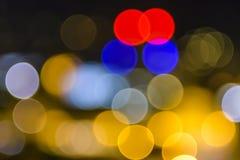 Färgrik suddig bakgrundsbokeh Arkivfoton