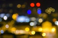 Färgrik suddig bakgrundsbokeh Royaltyfri Fotografi