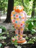 Färgrik svinutställning på det Dixon gallerit och trädgårdar i Memphis, Tennessee Royaltyfri Fotografi