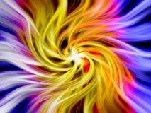 färgrik swirl royaltyfri illustrationer