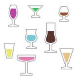 Färgrik symbol av stemwares Arkivbilder