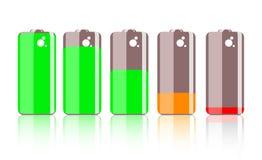 färgrik symbol för batteri Royaltyfri Fotografi