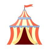 Färgrik symbol för cirkustält Arkivfoton