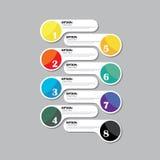 Färgrik symbol för vektordesignmall för infographics Royaltyfri Bild