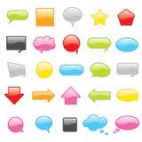 färgrik symbolsvektor för pratstund royaltyfri illustrationer