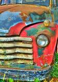 Färgrik tappninglastbil Fotografering för Bildbyråer