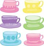Färgrik Teacup Royaltyfria Bilder